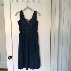 Dresses & Skirts - Navy silk dress - medium